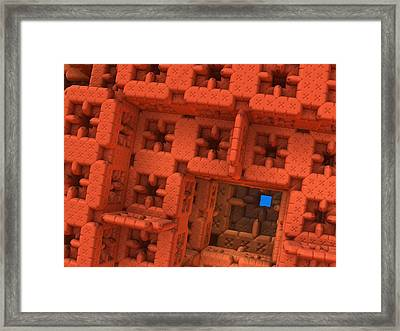 Blue Square Framed Print