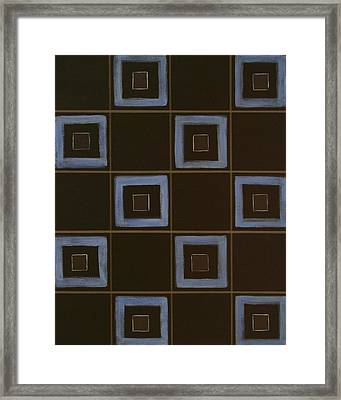 Blue Squares Framed Print by Sandy Bostelman