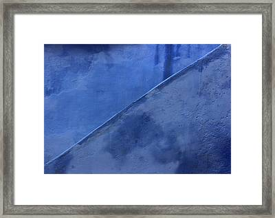 Framed Print featuring the photograph Blue Stairs In Profile by Ramona Johnston