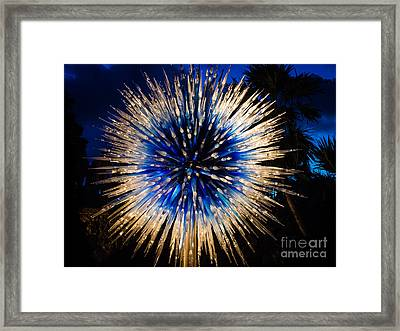 Blue Star At Night Framed Print
