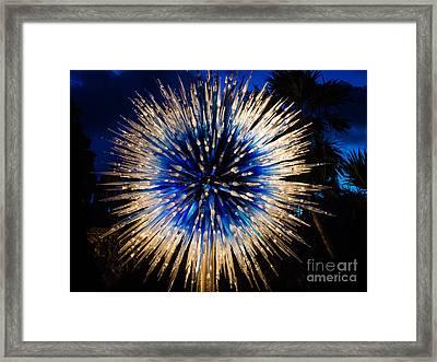 Blue Star At Night Framed Print