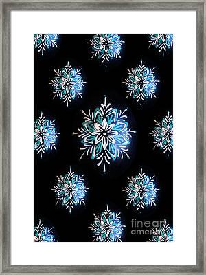 Blue Star Pysanky Framed Print