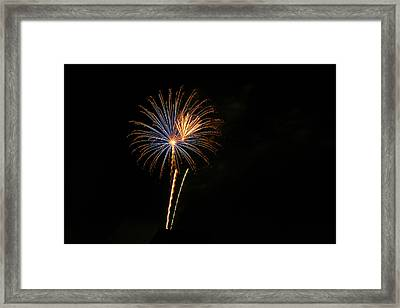 Framed Print featuring the photograph Blue Star When I Am Blue by Larry Bishop