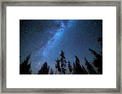 Blue Starry Night Framed Print