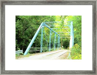 Blue Steal Framed Print
