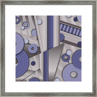 Blue Steel Framed Print by Tara Hutton