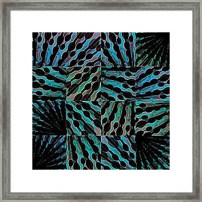 Blue Sticks Framed Print