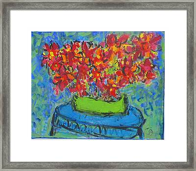Blue Still Framed Print