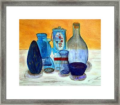 Blue Still Life Framed Print