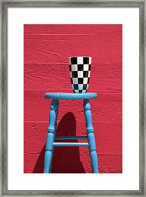 Blue Stool Framed Print by Garry Gay