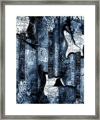 Blue Stratos Framed Print