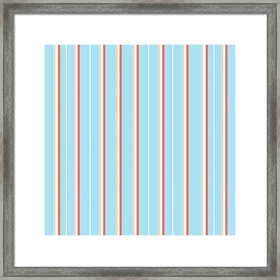 Blue Stripe Pattern Framed Print