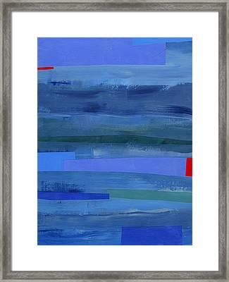 Blue Stripes 1 Framed Print by Jane Davies