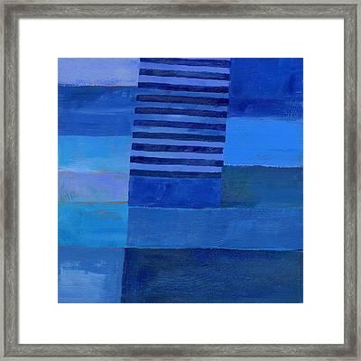 Blue Stripes 7 Framed Print by Jane Davies