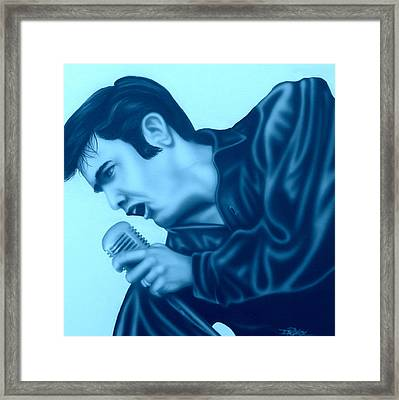 Blue Suede Shoes Framed Print by Darren Robinson