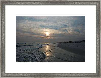 Blue Sunset Framed Print by Beverly Hammond