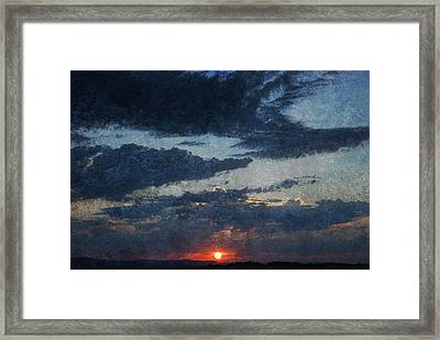 Blue Sunset Framed Print by Dorothy Berry-Lound