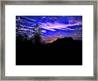 Framed Print featuring the photograph Blue Sunset In Poland by Mariola Bitner
