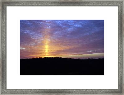 Framed Print featuring the digital art Blue Sunset by Jana Russon