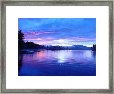 Blue Sunset Framed Print by Katherine Huck Fernie Howard