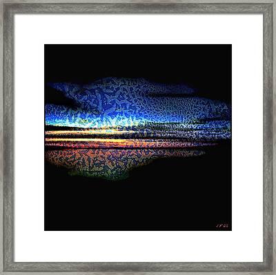 Blue Sunset On The Lake  Framed Print