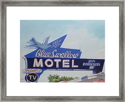 Blue Swallow Framed Print