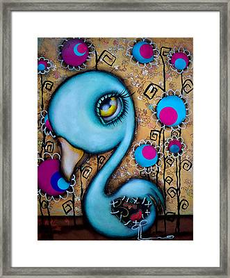 Blue Swan Framed Print by  Abril Andrade Griffith