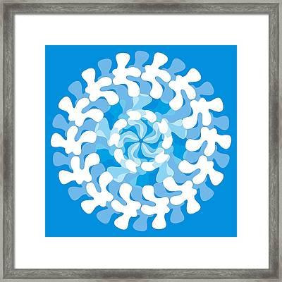 Blue Swirl Framed Print