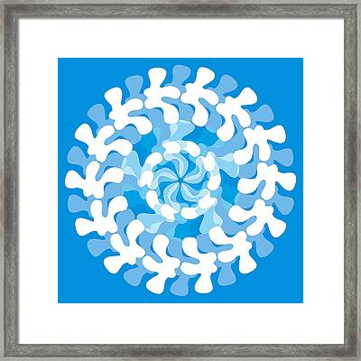 Blue Swirl Framed Print by Frank Tschakert