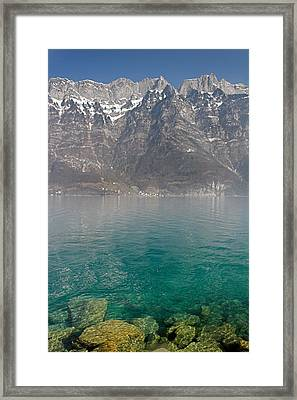 Blue Swiss Lagoon Framed Print by Pierre Leclerc Photography
