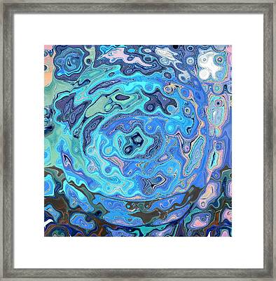 Blue Sworl Framed Print by Patty Vicknair