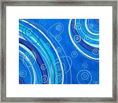 Blue Swril Number Seven Framed Print by Nina Bravo
