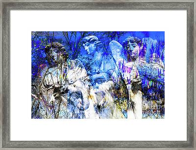 Blue Symphony Of Angels Framed Print