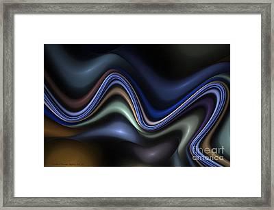 Blue Taffy Framed Print
