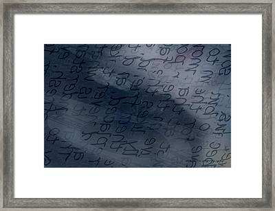 Blue Talk Framed Print