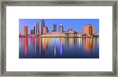 Blue Tampa Bay Framed Print