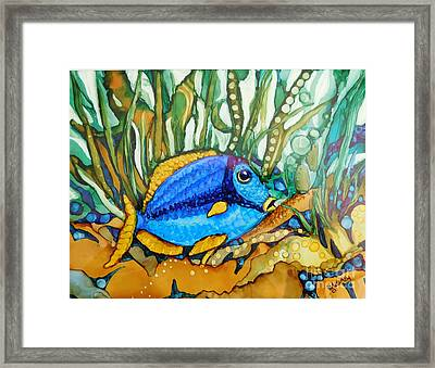 Blue Tang Framed Print by Joan Clear