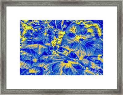 Blue Tango Floral Framed Print