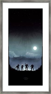 Blue Team Framed Print