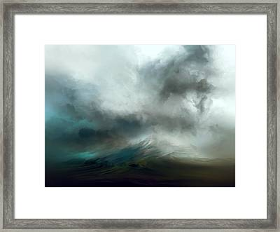 Blue Tempest Framed Print by Lonnie Christopher