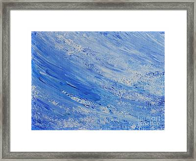 Blue Framed Print by Teresa Wegrzyn