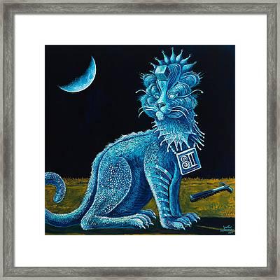 Blue Testament Framed Print