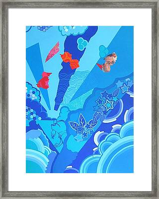 Blue That Surrounds Me Framed Print by Takayuki  Shimada