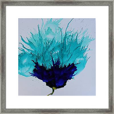 Blue Thistle Framed Print by Suzanne Canner
