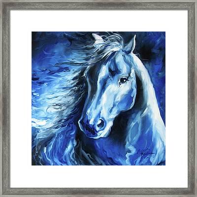 Blue Thunder  Framed Print by Marcia Baldwin