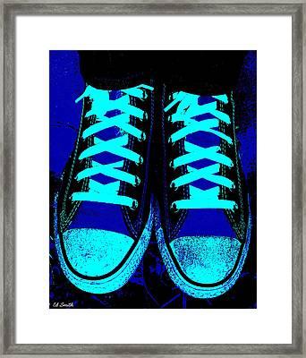 Blue-tiful Framed Print