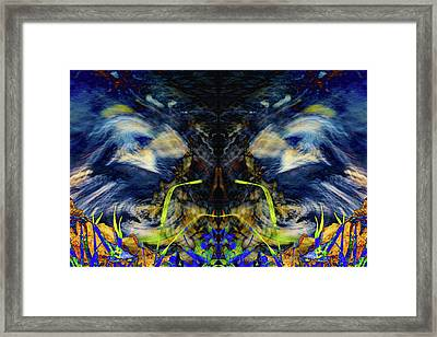 Blue Tigers Devil Framed Print