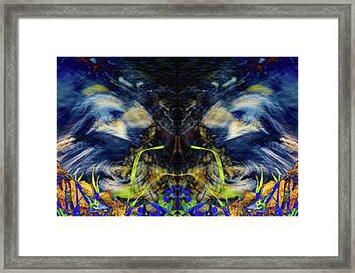 Blue Tigers Devil Framed Print