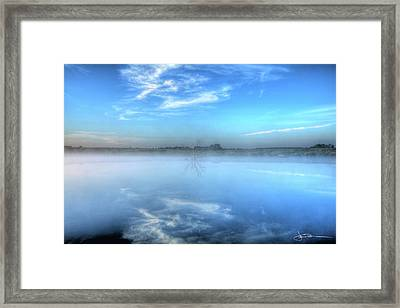 Blue Times Two Framed Print