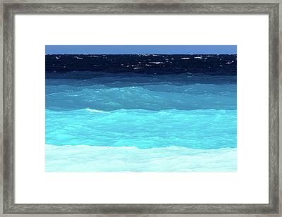 Blue Tones Of Ionian Sea Framed Print